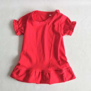 Red Basic tee dress, for 1-3yo, RM8 postage