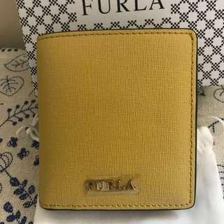 Furla Wallet 芥辣黃短身銀包