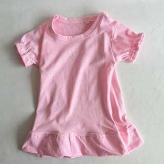 Pink basic tee dress, 1-3yo, RM8 postage