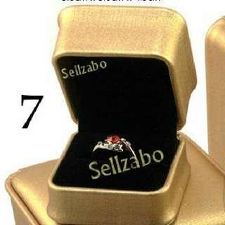 Satu Slot Cincin/Anting Kes : Kotak Pemegang Cadangan Mencadangkan Kawin Kahwin Perkawinan Perkahwinan Hari Lahir Hadiah Pasangan Istimewa Unik Comel Aksesori Ringbox Pu Leather Gold Warna Emas