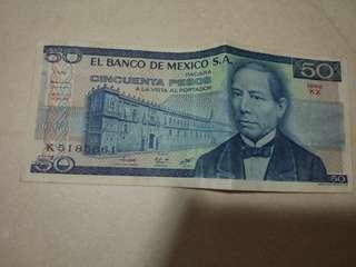 Mexican Peso 50
