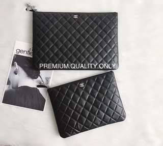 Chanel O Case With Cosmo Charm- black lambskin
