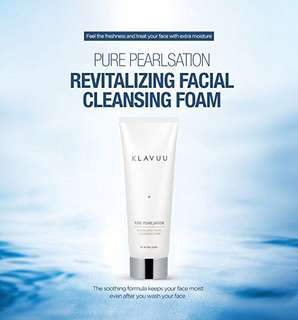 In-stocks.... KLAVUU Pure Pearlsation Revitalizing Facial Cleansing Foam 130ml