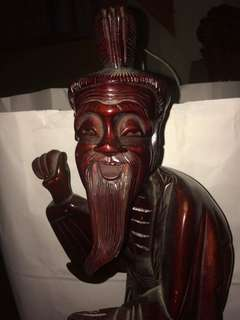 Antique wooden statue