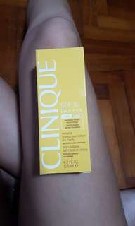 Clinique sunscreen lotion