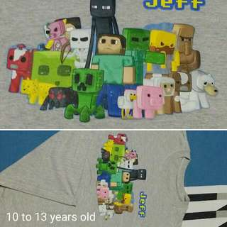 Minecraft Gray Shirt