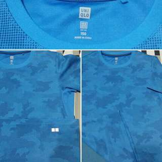 Uniqlo Dry Fit Blue Shirt