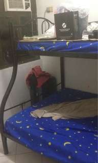 Double deck bed with everything