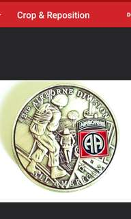 82nd US Airborne Division Commemorative coin