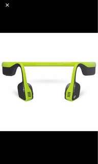 Aftershokz wireless Trekz Titanium Ivy Green Bone Conduction Headphones