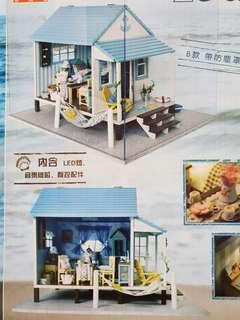 DIY Miniature Dollhouse Beach Cabana Cabin Resort Hut Kit