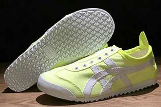Authentic Onitsuka Tiger Slip On Light Yellow/ White)