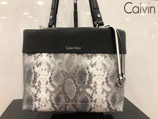 Original Calvin Klein Snake Skin Black Bag