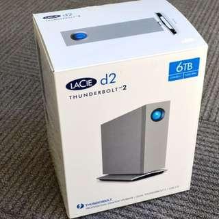 LaCie d2 Thunderbolt 2 , USB 3 , 6T (last price)