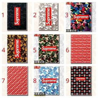 Supreme notebooks - journal - drawing & scribbling like whatever you wanna use it for really