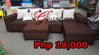 Sofa Set 4pcs Sectional Lshape