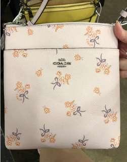 Original Coach Light Nude Floral sling bag (In transit)