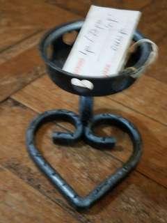 **全新**懷舊 收藏物 蠟燭座  心型底座  特價$150,4個