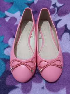 REPRICED! PARISIAN Salmon Pink with Ribbon Flats - FREE SHIPPING
