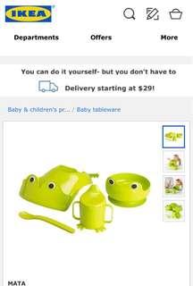 Ikea MATA baby feeding set