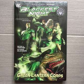 DC Comics 美國漫畫 超級英雄 BLACKEST NIGHT: GREEN LANTERN CORPS 綠燈俠 侏羅紀恐龍封面 Jurassic Dinosaurs Cover (留意第一、二張實物圖,264 頁 ,透明包書膠都未開,眼見咁多)絕版罕有 市面難求