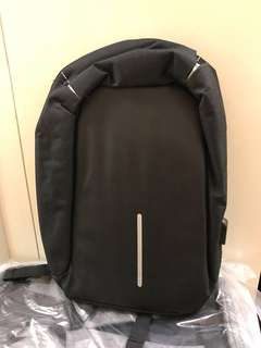 New Black anti theft backpack bag 灰色背囊袋