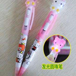 🚚 Hello Kitty 2 In 1 Torch Light Pen Blue Ink