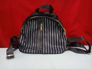 Black with silver stripes Bag