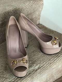 Gucci Horsebit Platform Heels
