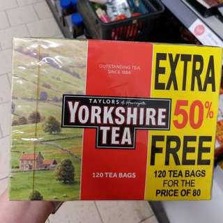 英國代購Yorkshire Tea英國茶,英國皇室御用茶品