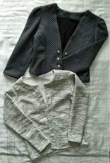 GREY FORMAL TOP (PRELOVED)