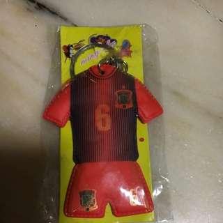 Andres Iniesta Spain football keychain