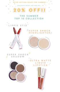[20% OFF PROMO] Colourpop 20% off promotion on summer top 10 collection PO