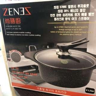 韓國ZENEZ尚膳廚陶瓷雲石鍋4公升