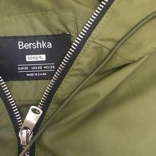 Olive Green Bershka Track Jacket