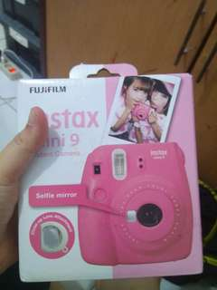 fujifilm camera instant instax mini 9 polaroid pink