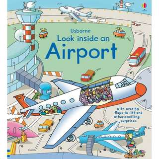 Usborne Looks inside Book - Airport ( All Paperback Books and Brand New )