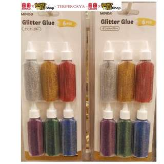 Japan Quality - Lem Glitter Miniso Import Glitter Glue