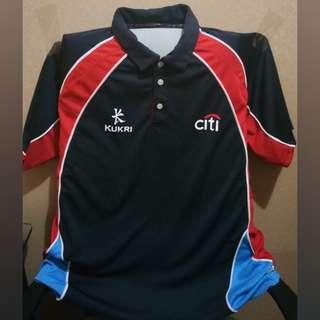Baju Badminton Tim Hongkong Kaus Berkerah Kukri Original XL