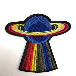 UFO/Planet Iron On Patch
