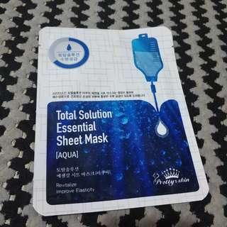 Pretty skin total solution essential sheet mask