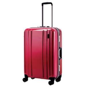 低至半價 全新Hideo Wakamatsu 25吋旅行箱.紅色喼