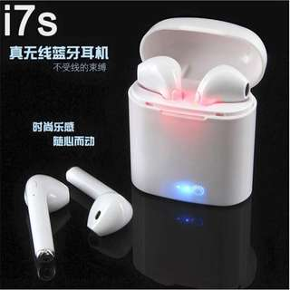 I7 WIRELESS BLUETOOTH EAR PHONE ☺️ with CHARGER BOX!!