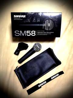 Selling off NEW Shure SM58