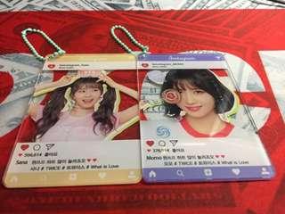 購自日本 非官方 Twice Sana Momo鎖匙扣