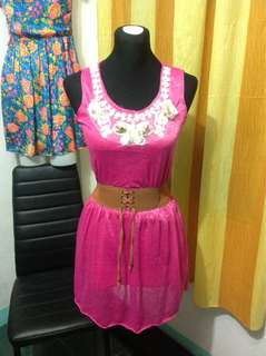 Pink Floral Dress (Small frame)