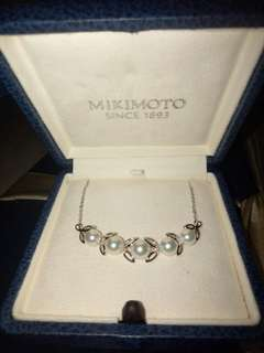 Mikimoto's Akoya Cultured Pearl Silver Pendant Necklace