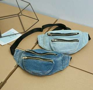 Rare Fashion Denim Belt Bag Fanny Pack