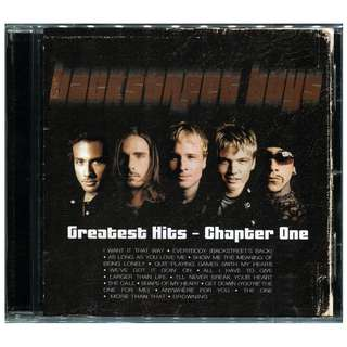 2001 Backstreet Boys - Greatest Hits: Chapter 1 CD + Karaoke VCD OOP