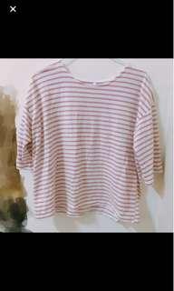 (送)粉色條紋上衣